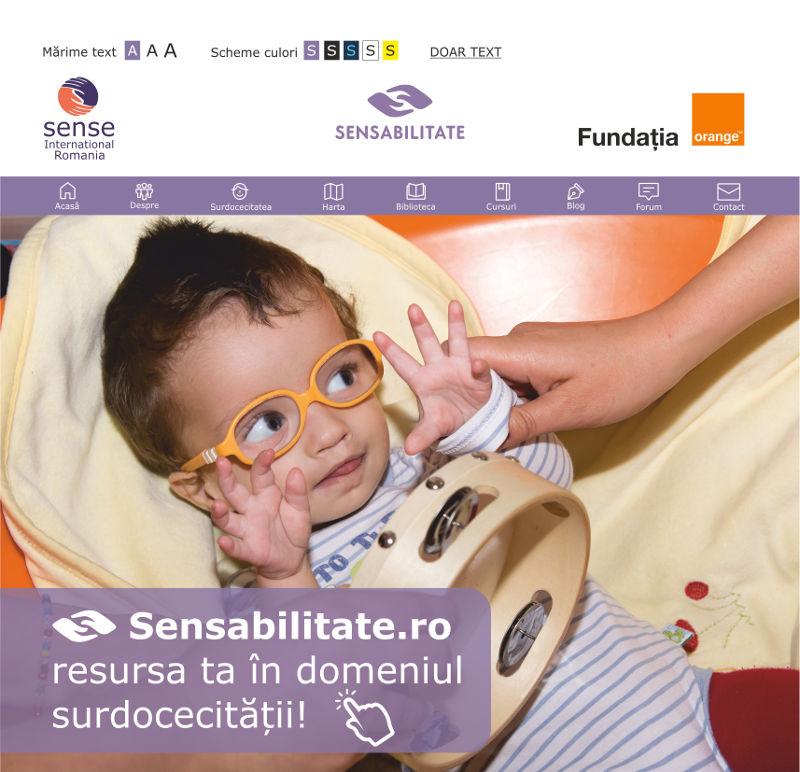 Sensabilitate.ro – resursa ta în domeniul surdocecității