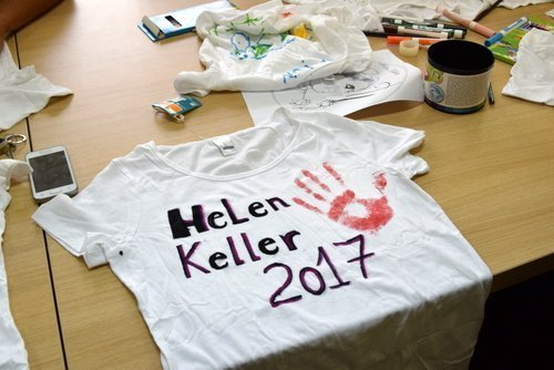 Children and young people from 9 towns Helen Keller, in June!